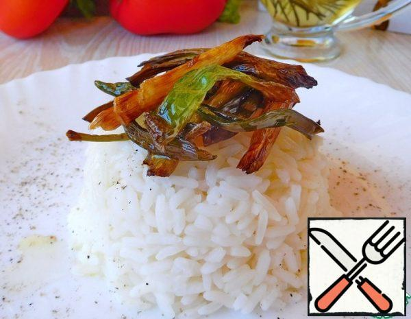 Rice with Crispy Green Onions Recipe