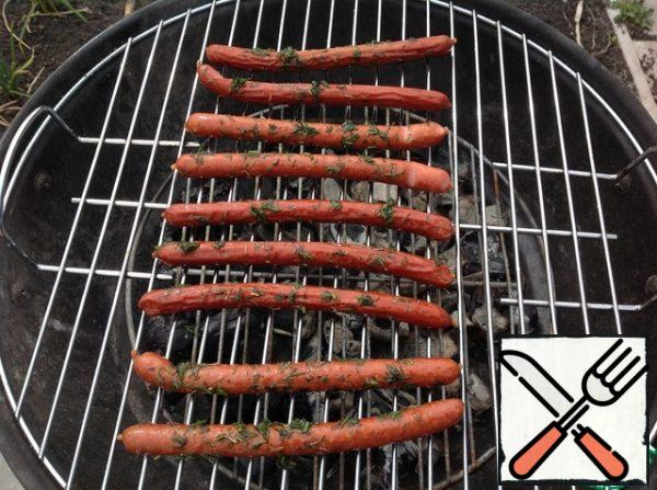 Place on a wire rack and fry on coals.