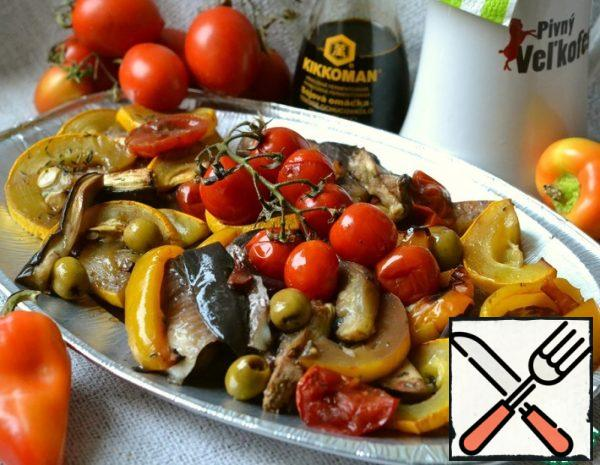 Baked Vegetables with Fish Recipe
