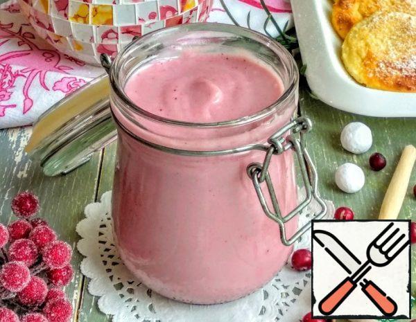 Cranberry custard Sauce Recipe