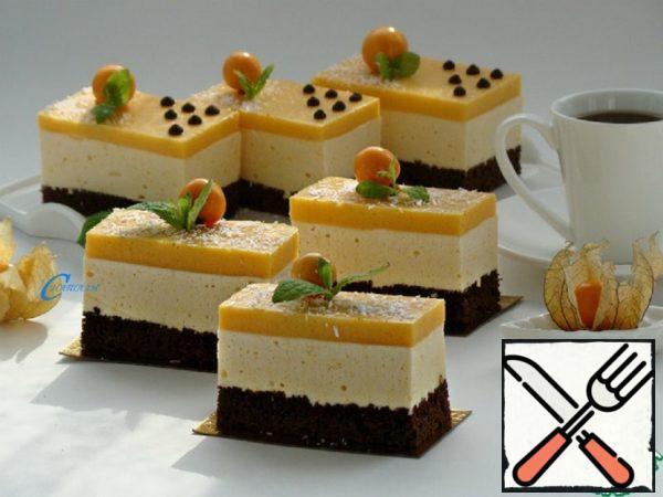 Chocolate-Caramel Cake with Pumpkin Bird's Milk Recipe