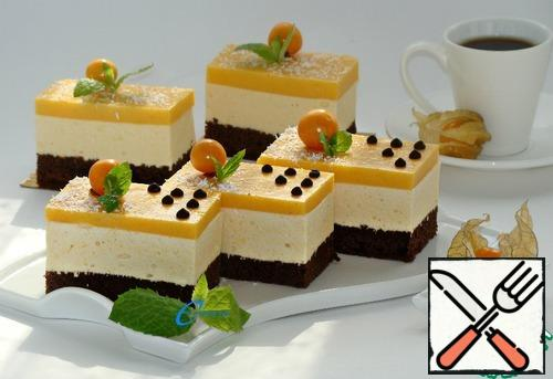 Cakes cut into portions, decorate to your liking and you can enjoy.