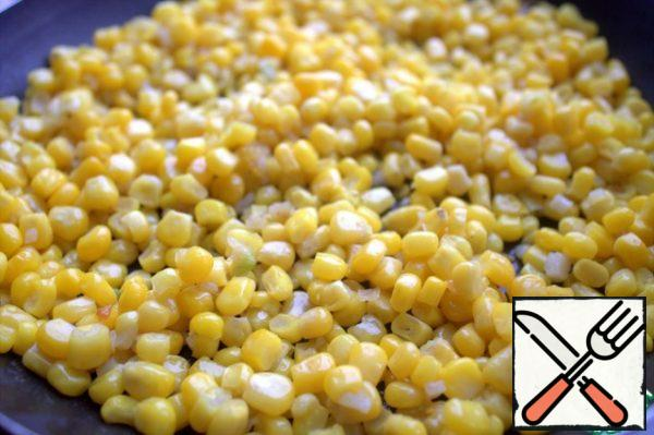 At this time I roasted the corn with the garlic.