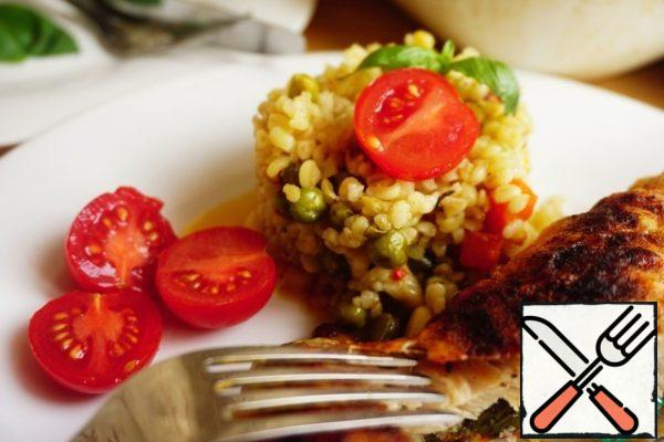 Bulgur comes out tender and fragrant!