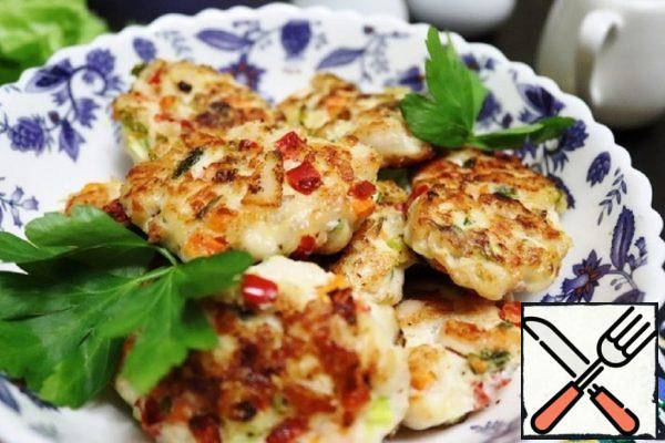 Juicy Chicken Cutlets with Vegetables Recipe