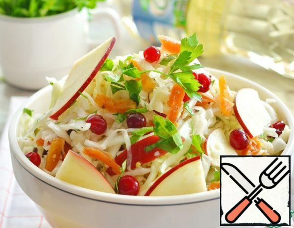 Cabbage Salad with dried Apricots and Cranberries Recipe