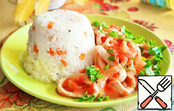 Stewed Squid with Tomatoes and Onions Recipe