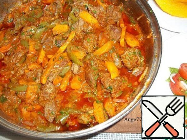 Meat Stewed with Vegetables Recipe