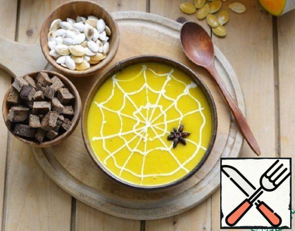 "Soup-Puree of Pumpkin ""Halloween"" Recipe"