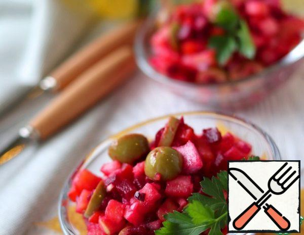 Vinaigrette Salad with Olives and Cumin Recipe