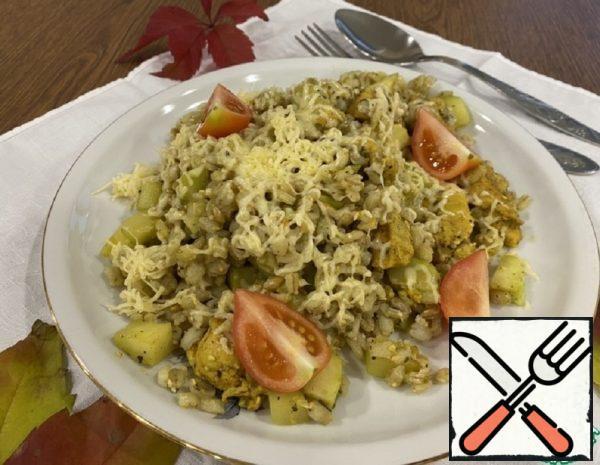 Chicken Fillet with Zucchini and Garnish Recipe