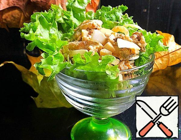 Onion and Egg Salad with Eggplant Recipe