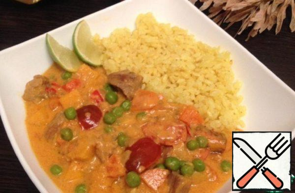 Spicy Curry with Turkey and Autumn Vegetables Recipe