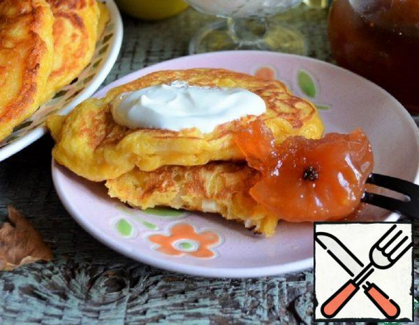 Pumpkin Pancakes with Quince Recipe