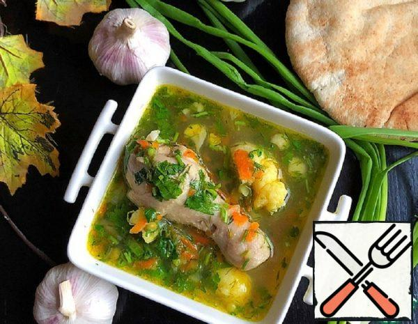 Fried Vegetable Soup with Chicken Recipe