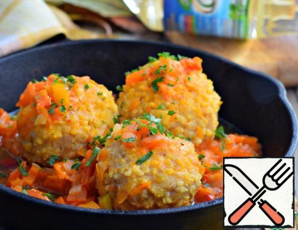 Chicken Meatballs in Vegetable Sauce Recipe