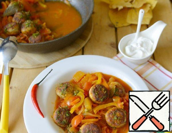 Fish Meatballs in a Thick Vegetable Sauce Recipe
