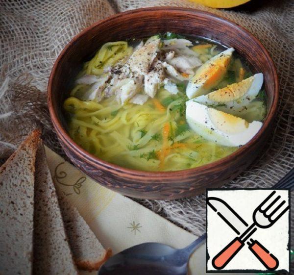 Chicken Soup with Pumpkin Noodles Recipe