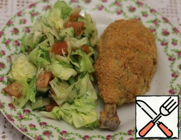 Chicken Drumsticks stuffed with Mashed Potatoes in Breadcrumbs Recipe