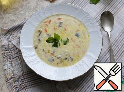 Serve the soup with parsley. Bon Appetit!