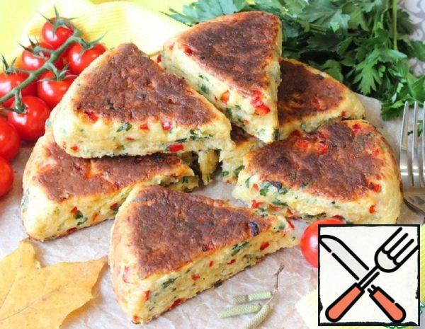 Fried Bread with Sweet Pepper and Cheese Recipe