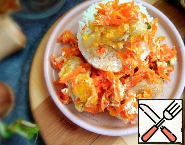 Pollock with Sour Cream and Carrots Recipe