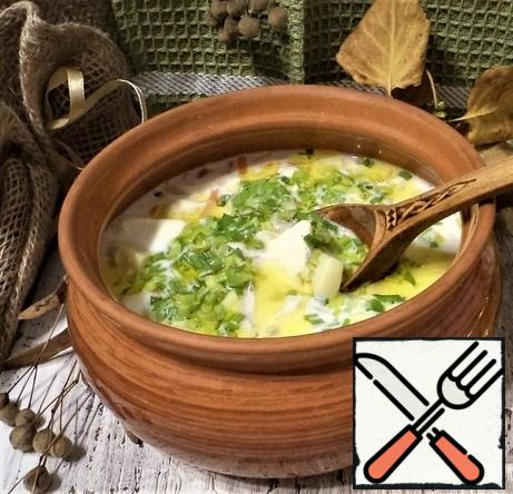 We decorate the soup with herbs, I have green onions today, and we invite you to the table! Bon Appetit! All health and good mood!
