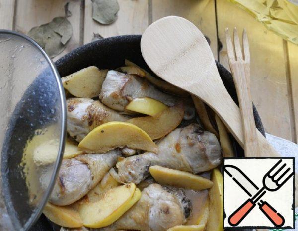 Roast Chicken Drumsticks with Quince Recipe