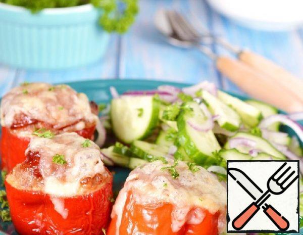 Baked Stuffed Pepper Rings Recipe