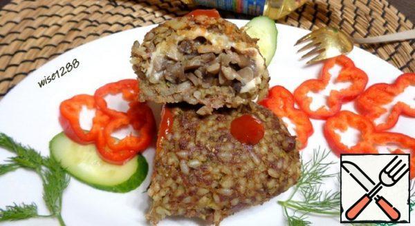 Meatballs with Mushroom Filling Recipe