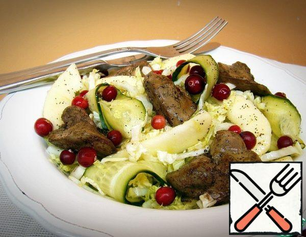 Peking Cabbage Salad with Liver and Apples Recipe