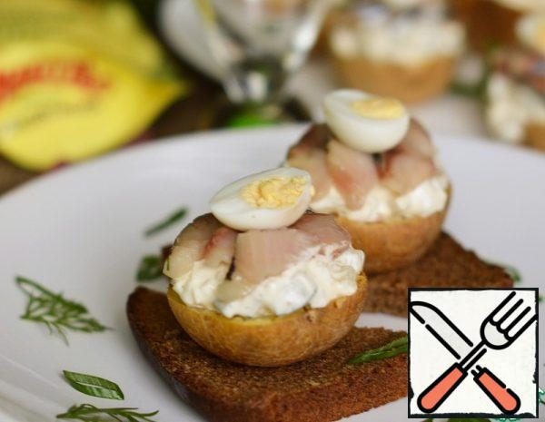 Baked Potatoes with Herring Recipe