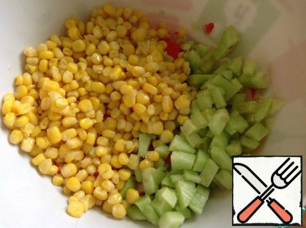 Add corn, salt and butter.