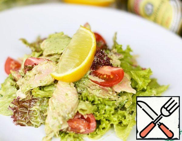 Fish Salad with Onion Dressing Recipe