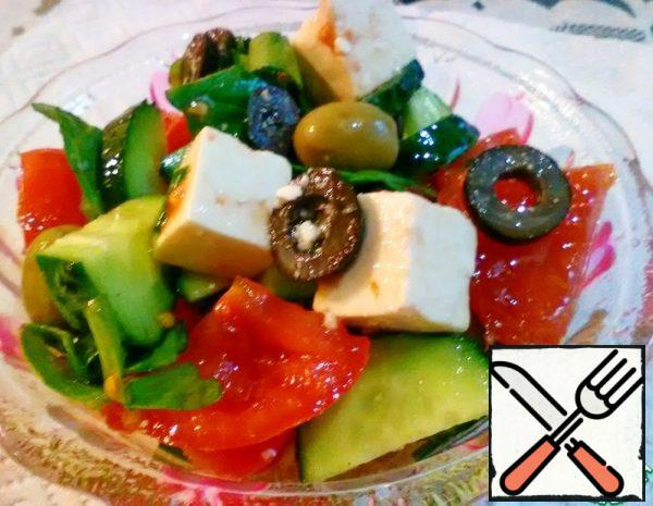 Salad with pickled Cheese Recipe