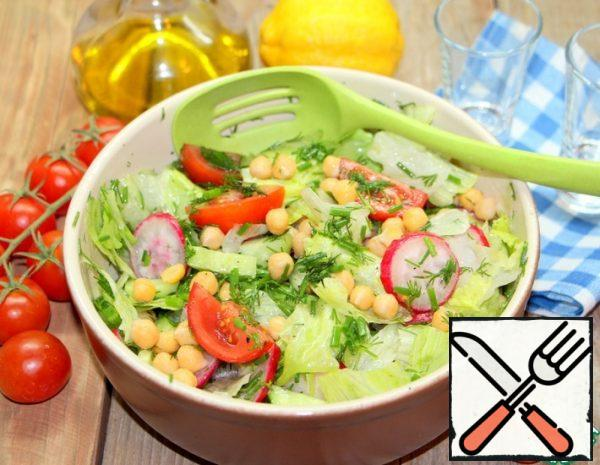 Vegetable Salad with Chickpeas Recipe