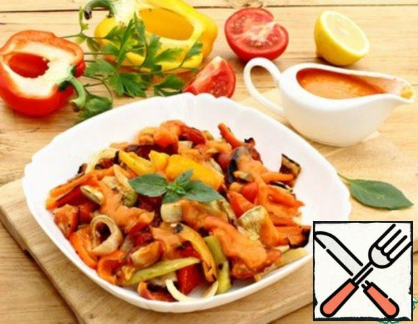 Grilled Vegetable Salad with Sauce Recipe