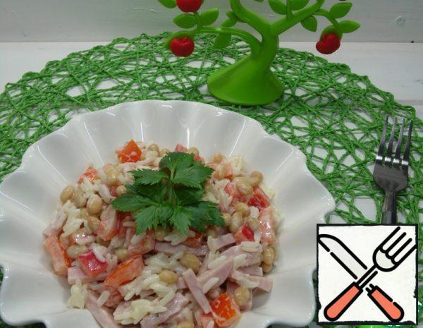 Salad with Rice and Ham Recipe
