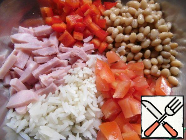 Mix all the prepared ingredients.