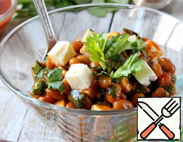 Spicy Bean Salad with Cheese Recipe