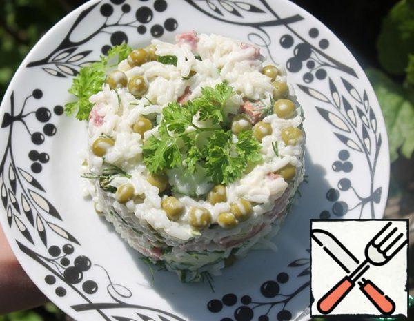 Quick Salad with Rice Recipe