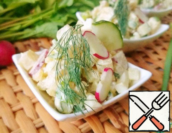 Potato Salad with Radish Recipe