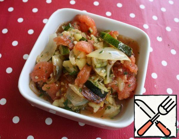 Appetizer with baked Zucchini Recipe