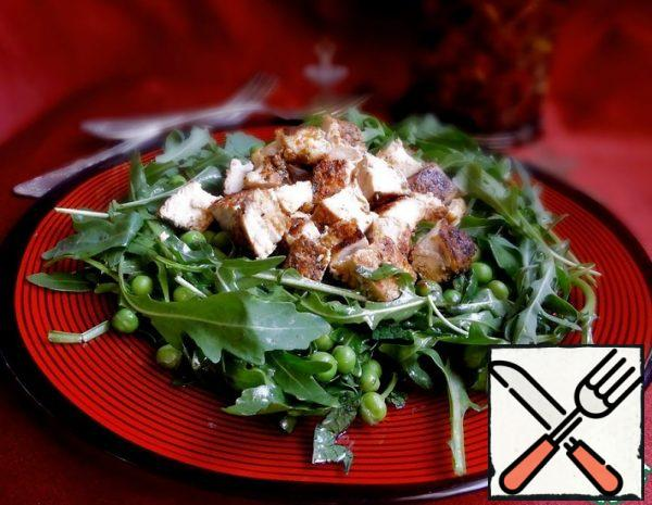 Green Salad with Chicken Fillet Recipe