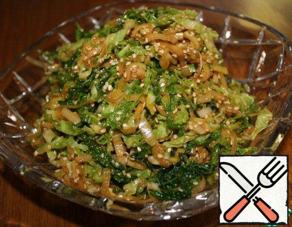Savoy Cabbage Salad in Asian Style Recipe