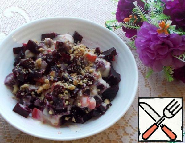 Beetroot Salad with Garlic and Nuts Recipe