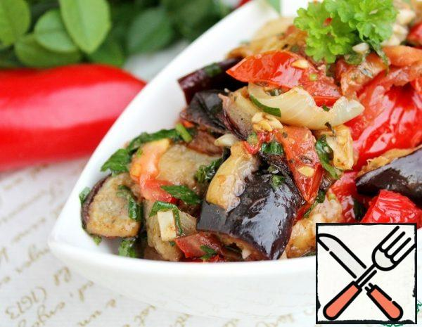The Salad-Appetizer of Eggplant Recipe