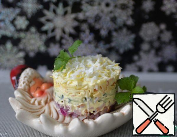 Puff Salad with Ham and Apple Recipe