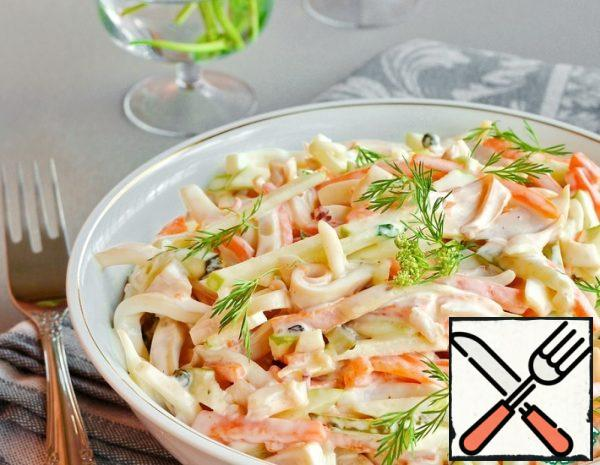 Squid Salad with Carrots and Apple Recipe