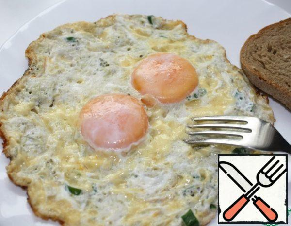 Scrambled Eggs with Cheese and pickled Cucumber Recipe
